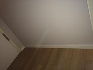 Schlafzimmer Fußleiste - nach außen nichts zu sehen